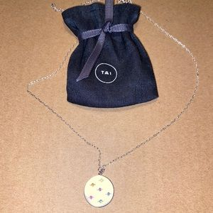 TAI Jewelry Medallion Necklace With Dust Bag